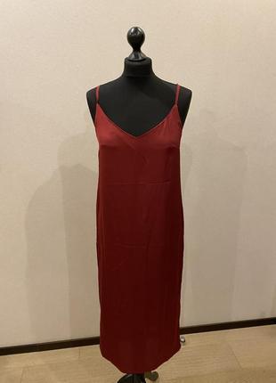 Коктейльное платье комбинация красного цвета xs, s