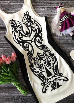 Платье узор (нюанс)