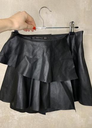 Кожаная юбка от zara
