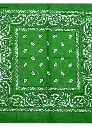 Бандана классика зеленый