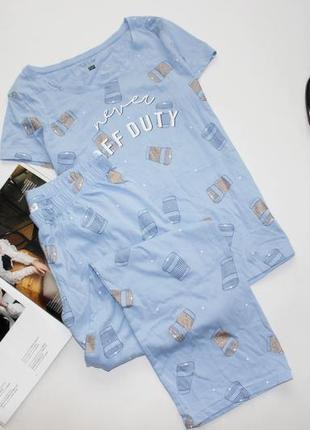 Классная голубая пижама л хл