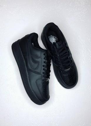 Кеды nike air force all black