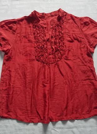 Воздушная летняя блуза c&a, свободный крой #хлопок+30%шелк#