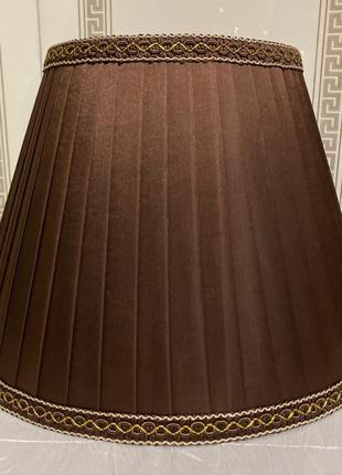 Светильник коричневый классический (абажур)