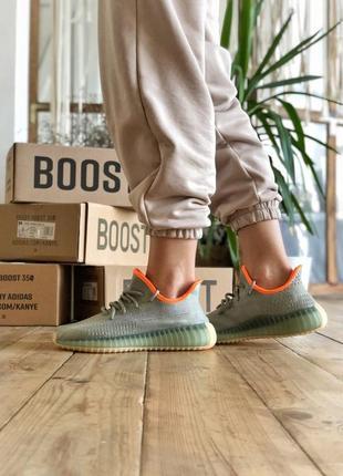 Adidas yeezy boost 350 v2 🍏 стильные женские кроссовки адидас изи 350 с рефлективом
