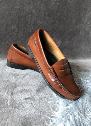 Женские шикарные кожаные туфли топсайдеры слипоны лоферы g.h.bass&co weejuns