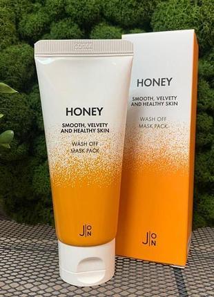 🍯маска для лица с медом j:on honey smooth velvety and healthy skin wash off mask 50 гр