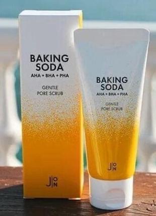 ☀️скраб для лица j:on baking soda gentle pore scrub (50)