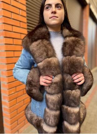 Джинсовая курточка с мехом