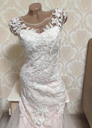 Шикарное свадебное ,вечернее,на выпускной, платье maskara london