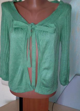 Болеро цвета нежной зелени