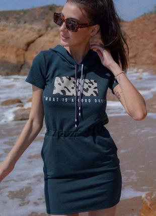 Sale 🔥 платье туника с капюшоном с принтом хуи удобное с накатом