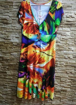 Шикарное вискозное платье