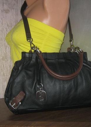 Betty jackson стильная компактная женская кожаная сумка пельмень натуральная кожа