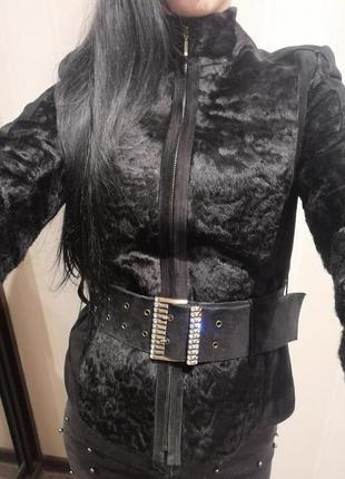 Шубка, замшевая куртка утепленная