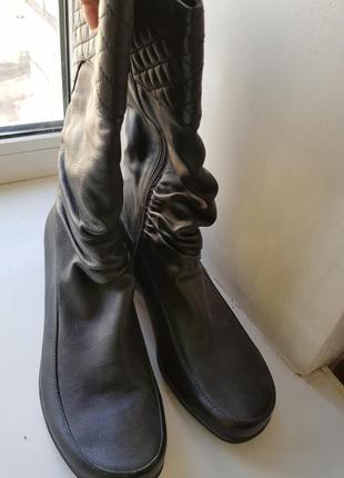 Ara мега удобные сапоги для стильных женщин, качественная кожа,утеплены