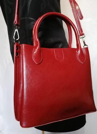 Шикарная кожаная сумка.