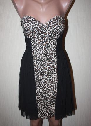 Платье леопард короткое от asos