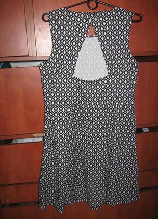 Платье ромбы трикотаж черно-белое