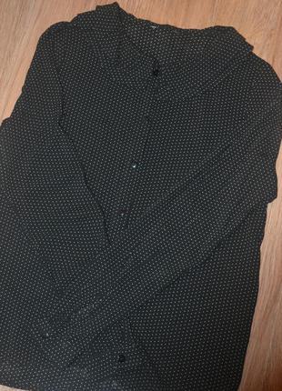 Рубашка в горошек со стильным воротничком!