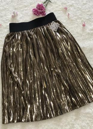 Супер 🙂 крутая юбочка-плиссе для вашей модницы от kiabi,новая!!!