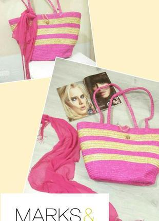 Фирменная соломенная сумка. пляжная сумка. летняя сумка из соломки