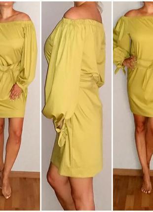 Прямое платье миди с поясом piena 48 размер