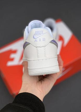 Nike air force 1 white/violet5 фото