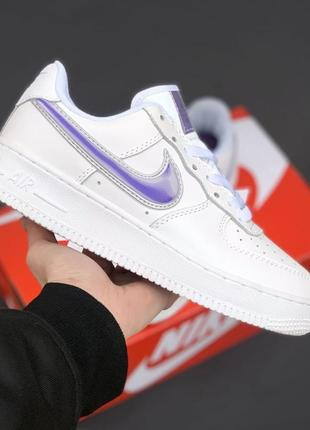 Nike air force 1 white/violet2 фото