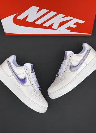 Nike air force 1 white/violet4 фото