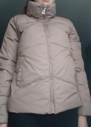 Демисезонная куртка кофейного цвета