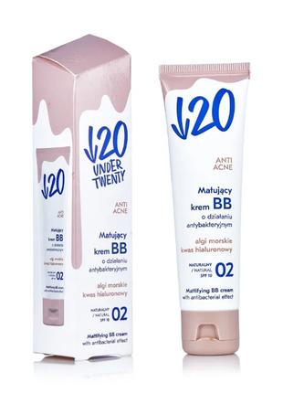 Under twenty anti! acne mattifying cream матирующий антибактериальный вв крем