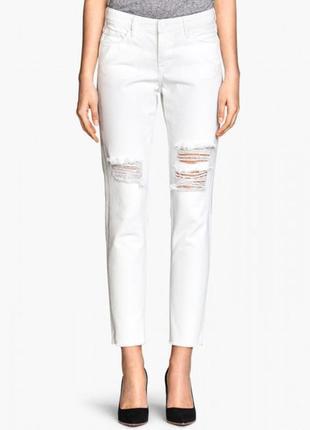 Стильные белые джинсы h&m