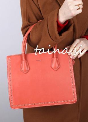 Женская сумка david jones cm5143t brick red классическая сумка кирпичного цвета