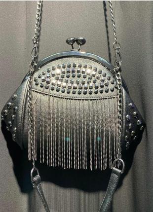 Шикарная сумочка с камнями,клатч на цепочке, люкс качество, стамбул.