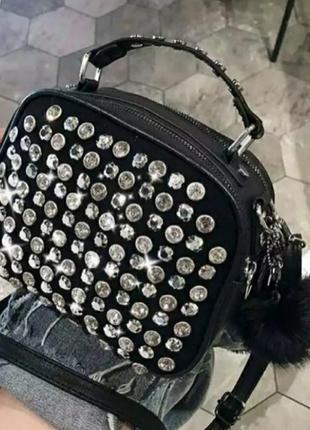 Шикарная эксклюзивная сумка в камнях, люкс качество, стамбул.