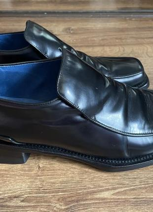Туфли чёрные мужские италия квадратный носок каблук кожа oliver sweeney стелька 30,2 см