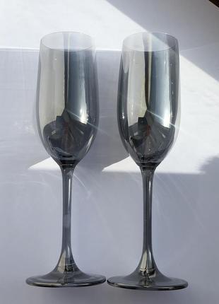 """Бокали для шампанського """"shine"""" 200 мл набір"""
