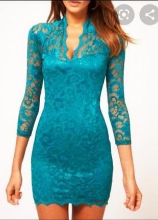 Нежное кружевное платье