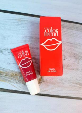 Блеск для губ фруктовый avon color trend
