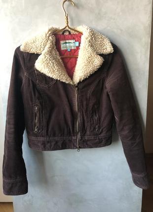 Демисезонная тканевая куртка косуха hollister оригинал