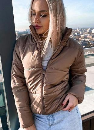 Курточка куртка короткая плащёвка весна демисезон