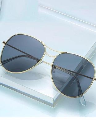 Стильные крупные очки авиаторы