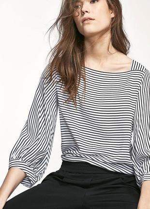 Актуальна біла блуза в полоску від massimo dutti❣️