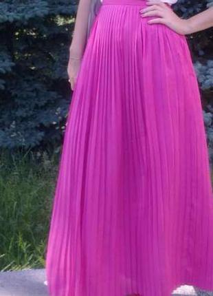 Красивая длинная летняя юбка плиссе kira plastinina