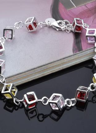 Очаровательный браслетик стерлинговое серебро 925 пробы