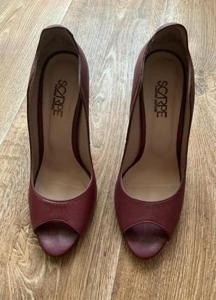 Кожаные туфли 37,3-38р.