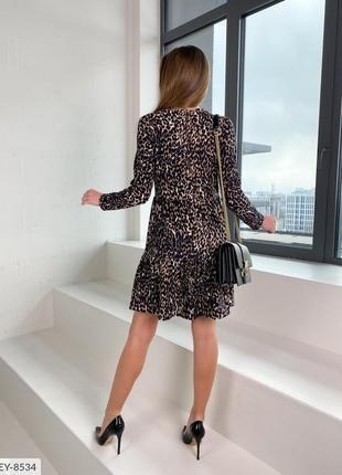 Платье а силуэта  леопард2 фото