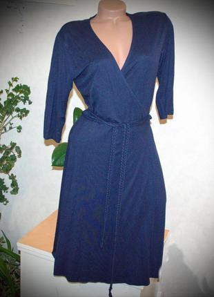 Трикотажное платье на запах,все вещи в распродаже от 50грн!