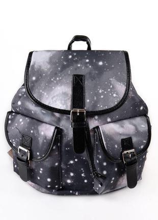 Серый женский текстильный городской рюкзак